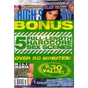with Free Bonus D.V.D. Sunny Leone, Tera Patrick: High Society: Books