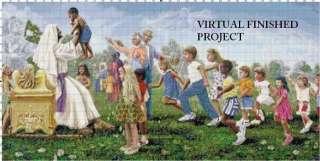Suffer The Little Children Cross Stitch Pattern Jesus T