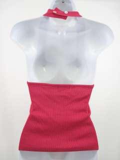 GEORGIOU STUDIO Pink Silk Halter Top Shirt Sz L