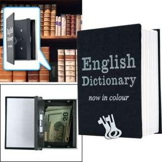 Mini Dictionary Diversion Book Safe w/ Key Lock   Metal 844296082377