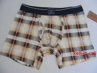 LUCKY BRAND LOUNGE MENs PLAID NORDIC Print Boxer Briefs Shorts