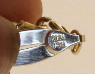 Increase Sales 17832 C101 14K YELLOW WHITE GOLD DESIGNER LINK BRACELET