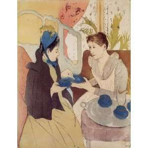 Mary Stevenson Cassatt   32 x 42 inches   The Visit: Home & Kitchen