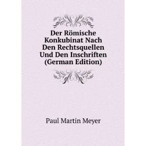Und Den Inschriften (German Edition) Paul Martin Meyer Books