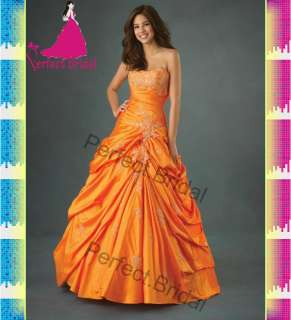 Orange Quinceanera Dresses Prom Applique Ball Gown Birthday Party