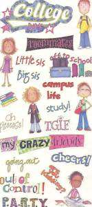 Mambi College Girl Campus Life Graduation Huge Stickers