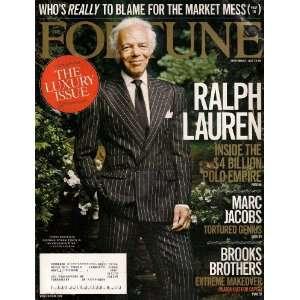 RALPH LAUREN POLO FORTUNE MAGAZINE SEPTEMBER 2007 MARC