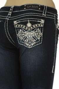 La Idol Designer Capri Miss Rhinestone Jewel Ladies Fashion 4 Me Jeans
