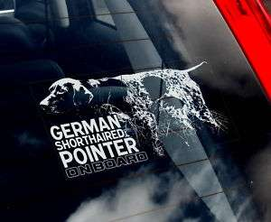 German Shorthaired Pointer  Dog Car Sticker  Sign Decal