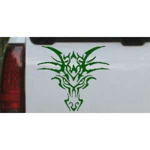 Tribal Dragon Car Window Wall Laptop Decal Sticker    Dark