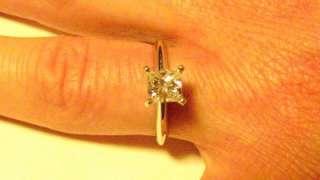 CHEAP .74 Carat Princess Cut Diamond Ring. Never Worn