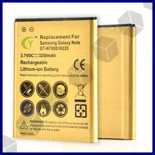 3250mAh HIGH Capacity Gold Battery for Samsung Galaxy Note GT N7000