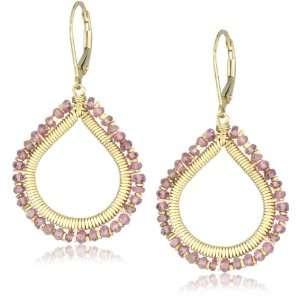 Dana Kellin Everyday Open Heart Shape Pink Tourmaline Drop