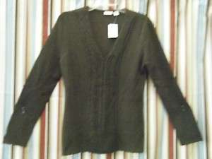 NWT Womens Cato Brown Knitted Sweater Blouse Top Med