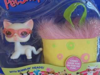 Littlest Pet Shop CAT w/CASE #64 RETIRED NEW NIB *2004*