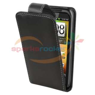 Leather Flip Case Skin Cover Pouch for HTC Incredible S 2 Droid