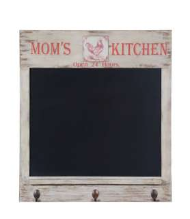 FRENCH COUNTRY Moms Kitchen CHALKBOARD Memo Board Wall Decor w/ 3