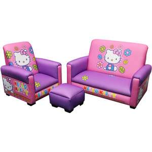 New   HELLO KITTY TODDLER SOFA +OTTOMAN +CHAIR SET  Girls Kids Room