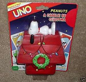 PEANUTS CHARLIE BROWN SNOOPY CHRISTMAS UNO CARDS SET