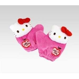 Hello Kitty Kids Plush Mittens Pink Plush Everything