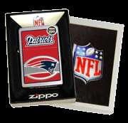 NEW ENGLAND PATRIOTS   NFL _ GENUINE WINDPROOF ZIPPO LIGHTER #24624