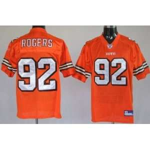 Shaun Rogers #92 Cleveland Browns Replica NFL Jersey Orange Size 48