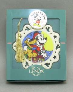 Lenox China Disney Collectibles Mickey Mouse and Pluto Christmas