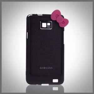 Black Hello Kitty w Bow Bumper polycarbonate thin bumper
