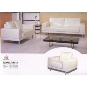 Concorde Full Leather Sofa, Loveseat, and Chair Set