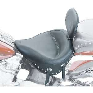 Mustang Wide Studded Solo Seat with Driver Backrest for