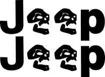 JEEP WRANGLER Side Emblems DECAL STICKER OEM Size