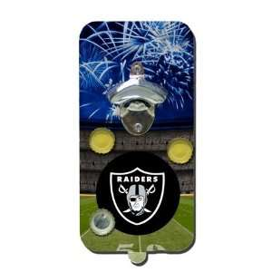 Oakland Raiders Click N Drink Magnetic Bottle Opener