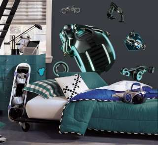 Tron Legacy Light Cycle Peel and Stick Giant Wall Decal
