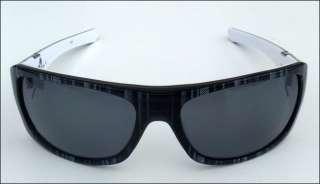 Oakley Sideways Polarized Sunglass Black Plaid/Gray NEW 700285228228