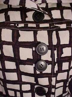 New Classiest TALBOTS Stretch Brown Black Cream Dress ~ 12