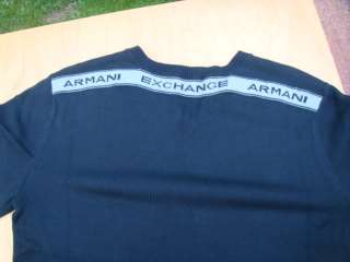 GEORGIO ARMANI EXCHANGE MENS GREY BLUE T SHIRT SWEATER JEANS JUMPER
