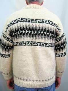 Vtg Mens Nepal Wool Nordic Fair Isle Ski Sweater Sz Lg