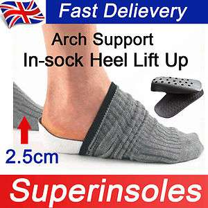 Support Height Increase Heel Lift Shoe Insert Pad Insoles Men&Women