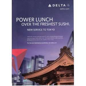 Print Ad 2009 Delta (Power Lunch) Delta Airlines Books