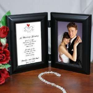 Marriage Blessing Wedding Black Bi Fold Personalized