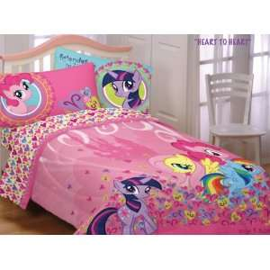 My Little Pony Heart Twin Comforter Sheets Bedding Set