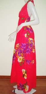 NEW SEXY LONG MAXI HALTER FLORAL SUN DRESSES BEACH PARTY COCKTAIL