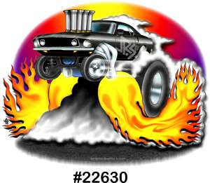 68 69 MUSTANG Drag Hot Rod Muscle CarTOON T Shirt