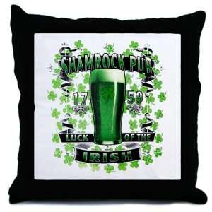 Throw Pillow Shamrock Pub Luck of the Irish 1759 St Patricks Day Four