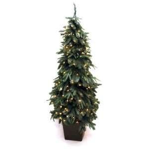 Artificial Prelit Christmas Tree, 6 Feet, Clear Lights