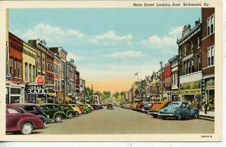 RICHMOND KENTUCKY DOWNTOWN STREET SCENE STORES POSTCARD