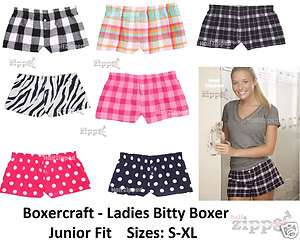 Ladies Bitty Boxer Cotton Flannel Boxers F40 S XL NEW