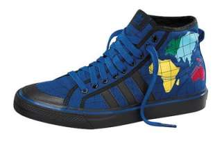 Adidas Originals by Jeremy Scott ObyO JS Map Shoes Nizza Hi Blue Black