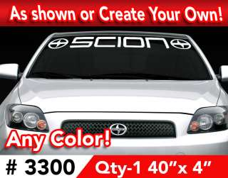 CUSTOM SCION TC XA XB IQ WINDSHIELD LARGE DECAL STICKER 40x4