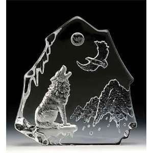 Engraved Lead Crystal    Wolf/Eagle: Home & Kitchen
